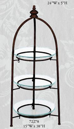 Image result for 3 tier bronze tray with glass trays
